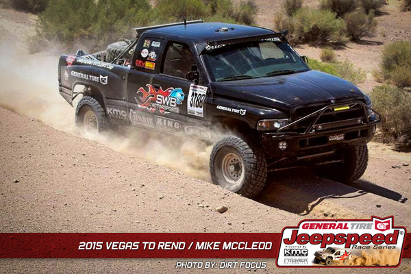 Jeepspeed, Mike McCleod, General Tire, Vegas To Reno, Currie Enterprises, Synergy