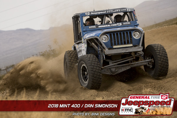 Dan Simonson, Jeepspeed, General Tire, KMC Wheels, The Mint 400, Bink Designs