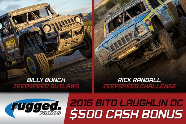 Rugged Radios Cash Bonus, Jeepspeed Cash Bonus, Billy Bunch, Rick Randall