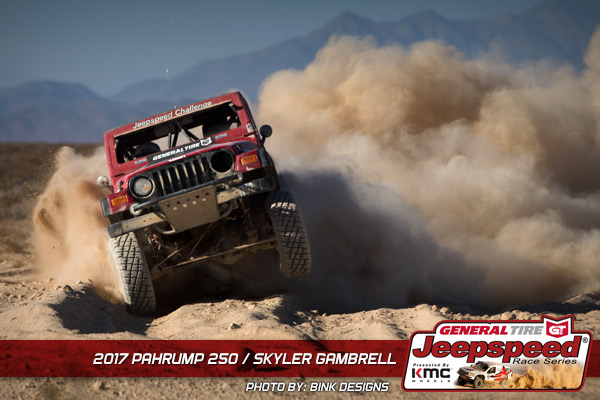 Skyler Gambrell, Jeepspeed, General Tire, KMC Wheels, Jeepspeed Challenge, Bink Designs, Pahrump 250