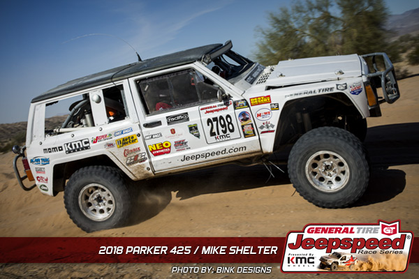 Mike Shelter, Jeepspeed, General Tire, KMC Wheels, Best In The Desert, NEO Synthetic Oils, Rugged Radios