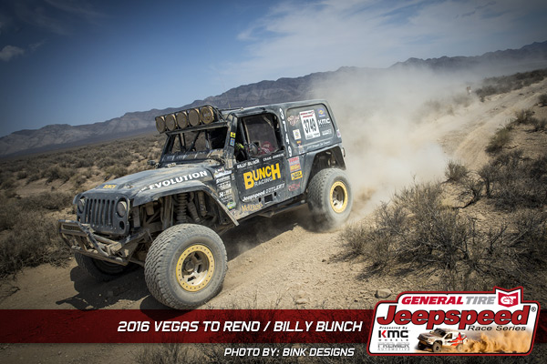 Billy Bunch, Jeepspeed, General Tirem KMC Wheels, Jeep Wrangler, Vegas To Reno, Off Road Racing, Bink Designs