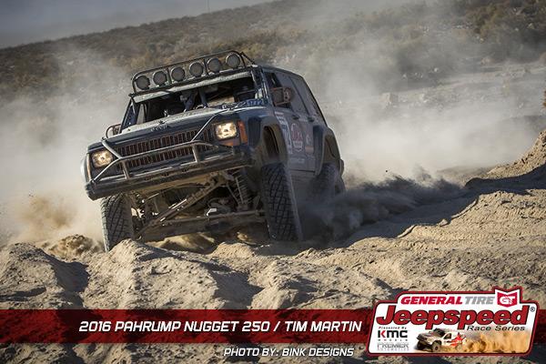 Tim Martin, Jeepspeed, Jeep Cherokee, General Tire, KING Shocks, Premiere Automotive, Bink Designs
