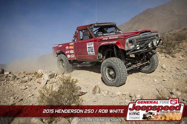 Rob White, Jeepspeed, Henderson 250, Bink Designs