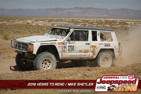 Mike Shetler, Jeepspeed, Bink Designs, General Tire, KMC Wheels, NEO Synthetics, Best In The Desert, Howe Performance