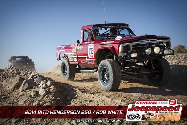 Rob White, Jeepspeed Champion, General Tire, Off Road, Bink Designs