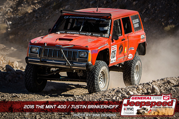 Justin Brinkerhoff, Jeepspeed, General Tire, KMC Wheels, KC Hilites