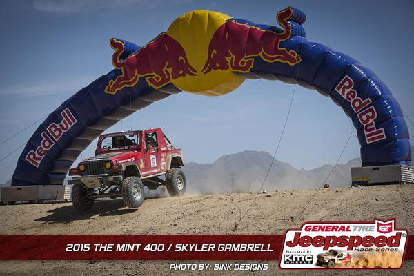 Skyler Gambrell, Jeepspeed, The Mint 400, General Tire, Bink Designs
