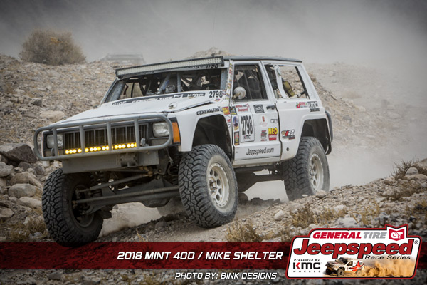 Jeepspeed, Mike Shelter, The Mint 400, General Tire, KMC Wheels, NEO Synthetics