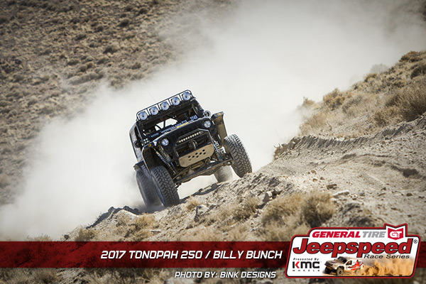 Jeepspeed, Billy Bunch, General Tire GrabberX3, KMC Wheels, Bink Designs, Best In The Desert, Tonopah 250