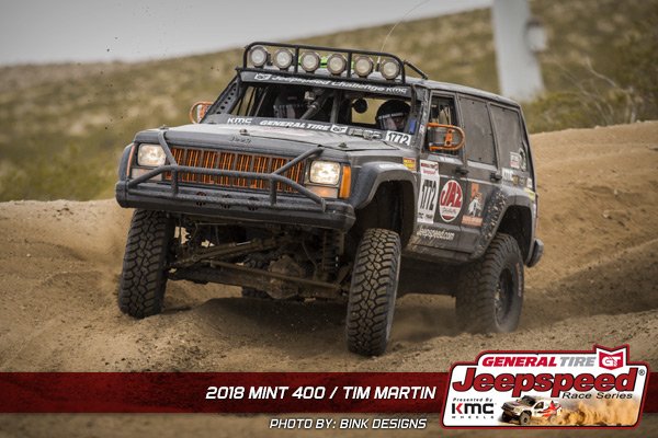 Jeepspeed, Tim Martin, The Mint 400, General Tire, KMC Wheels, Off Road, Bink Designs