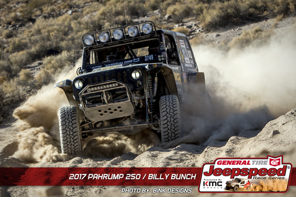 Billy Bunch, Jeepspeed, KMC Wheels, General Tire Grabber X3, Bink Designs