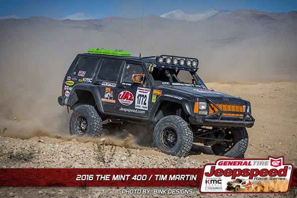 Jeepspeed, Tim Martin, The Mint 400, General Tire, Bink Designs, JAZ Fuel Cells