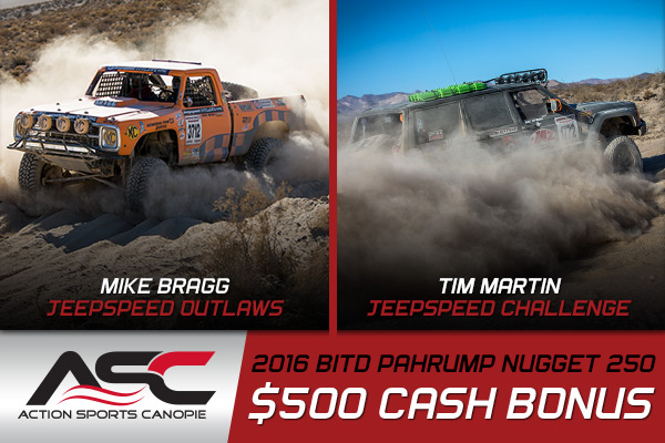 Jeepspeed, Action Sports Canopies, Pahrump Nugget 250, Mike Bragg, Tim Martin