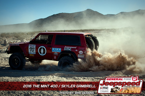 Skyler Gambrell, The Mint 400, Jeepspeed, Bink Designs