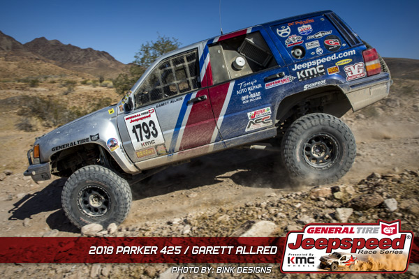 Garett Allred, Jeepspeed, General Tire, KMC Wheels, GG Lighting, Action Sports Canopies, Bink Designs, Parker 425