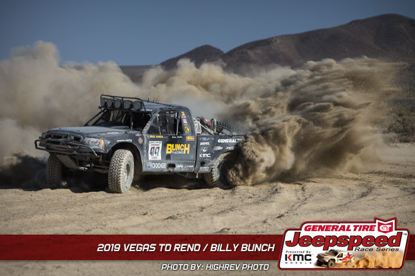 Billy Bunch, Jeepspeed, General Tire, KMC Wheels, Vegas To Reno
