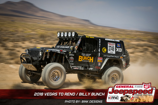 Jeepspeed, Billy Bunch, General Tire, KMC Wheels, Bink Designs, Off Road Racing
