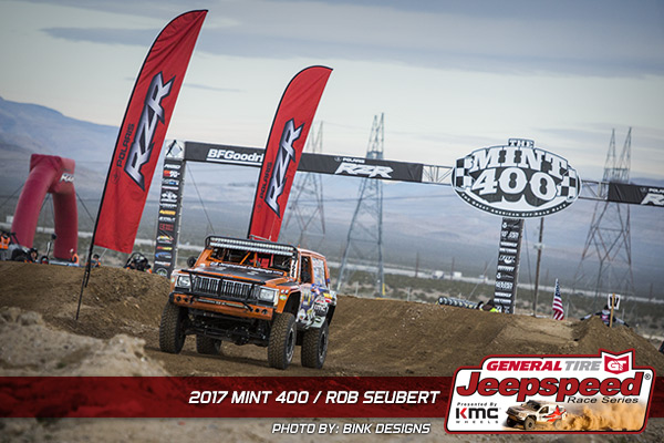 Rob Seubert, Jeepspeed, General Tire, KMC Wheels, The Mint 400, Bink Designs