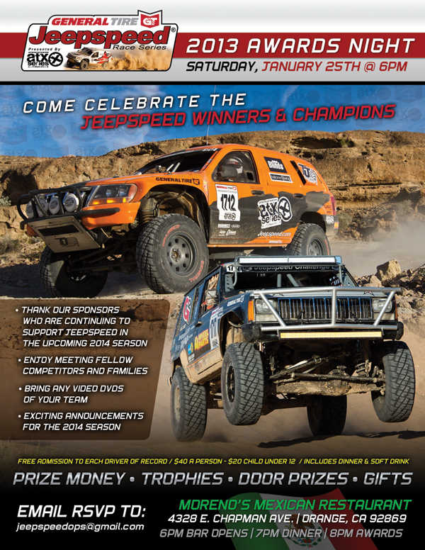 2013 Jeepspeed Awards, General Tire, ATX Series Wheels, Moreno's Mexican Restaurant