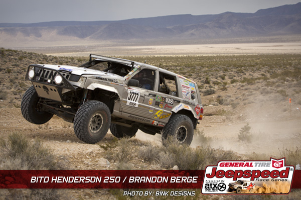 Brandon Berge, Jeepspeed Race Series, Henderson 250