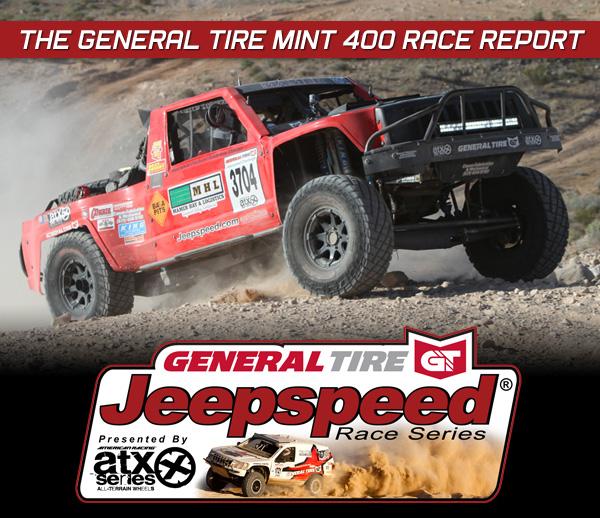 Jeepspeed Challenge, Bob Mamer, General Tire, ATX Wheels, The Mint 400