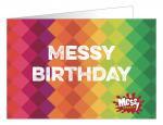 Messy birthday card
