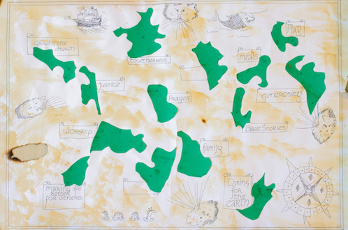 Deepening Discipleship map with islands