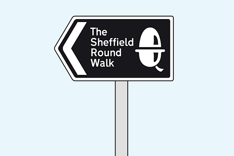 Sign for the Sheffield Round Walk