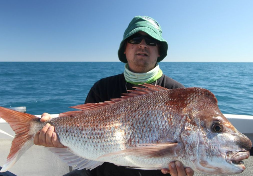 Tim with a solid snapper