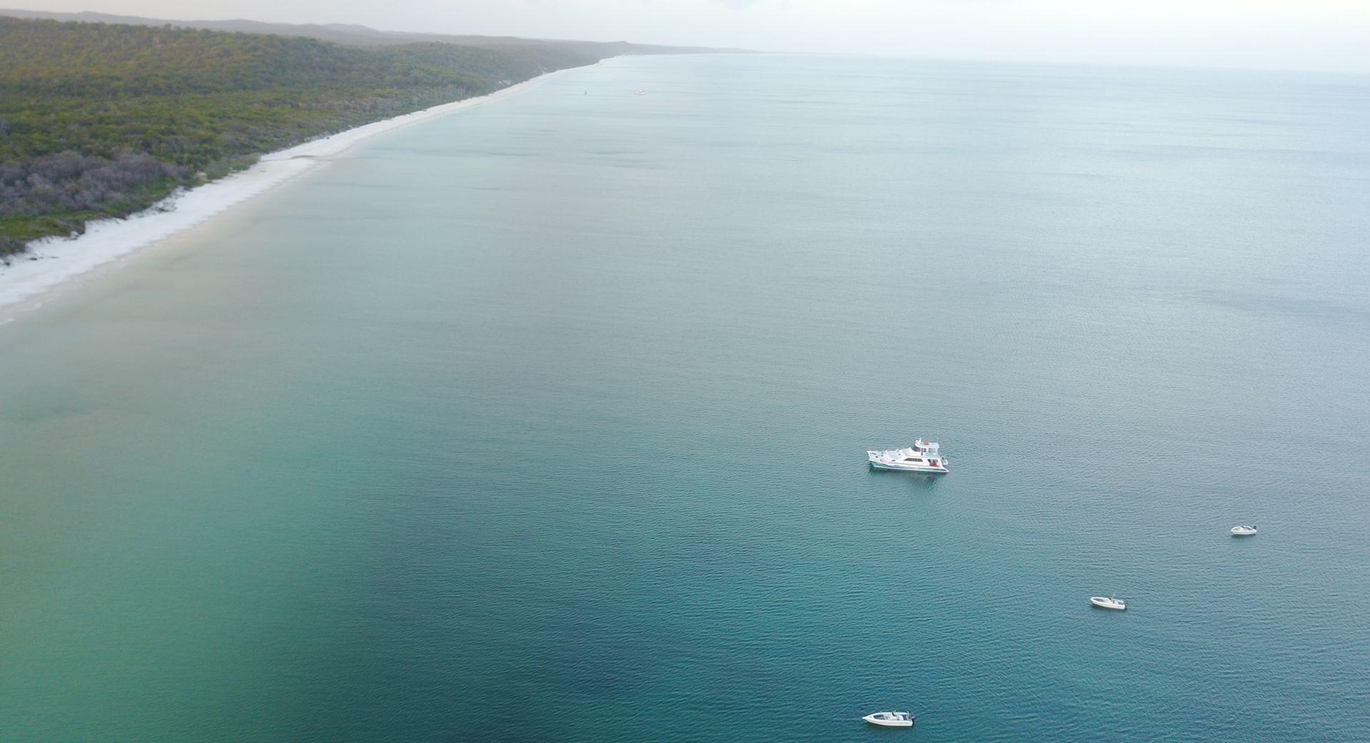 Waking up along Fraser Islands west coast onboard Freedom III