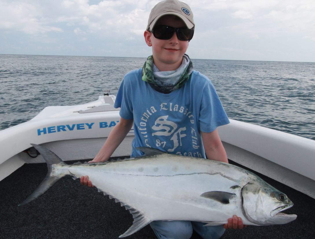 Young Copper from NZ takes out the catc of the month with s PB queenfish