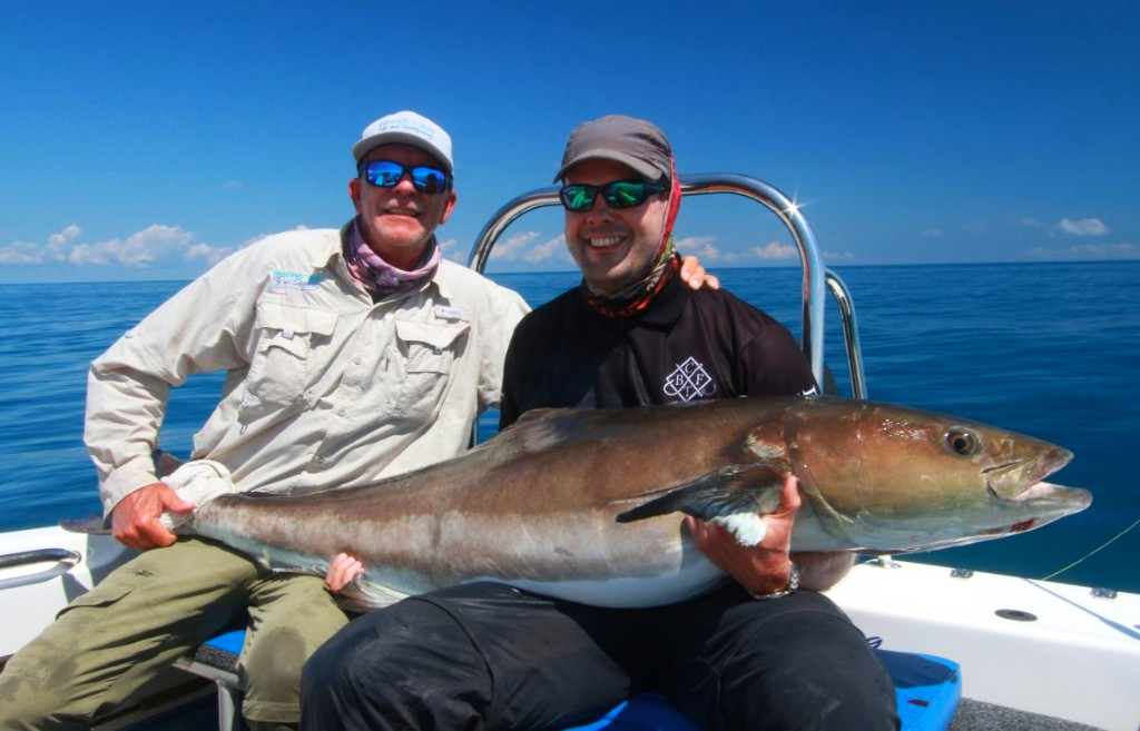 Alex from Germany with a solid Cobia guided by Muz a new PB