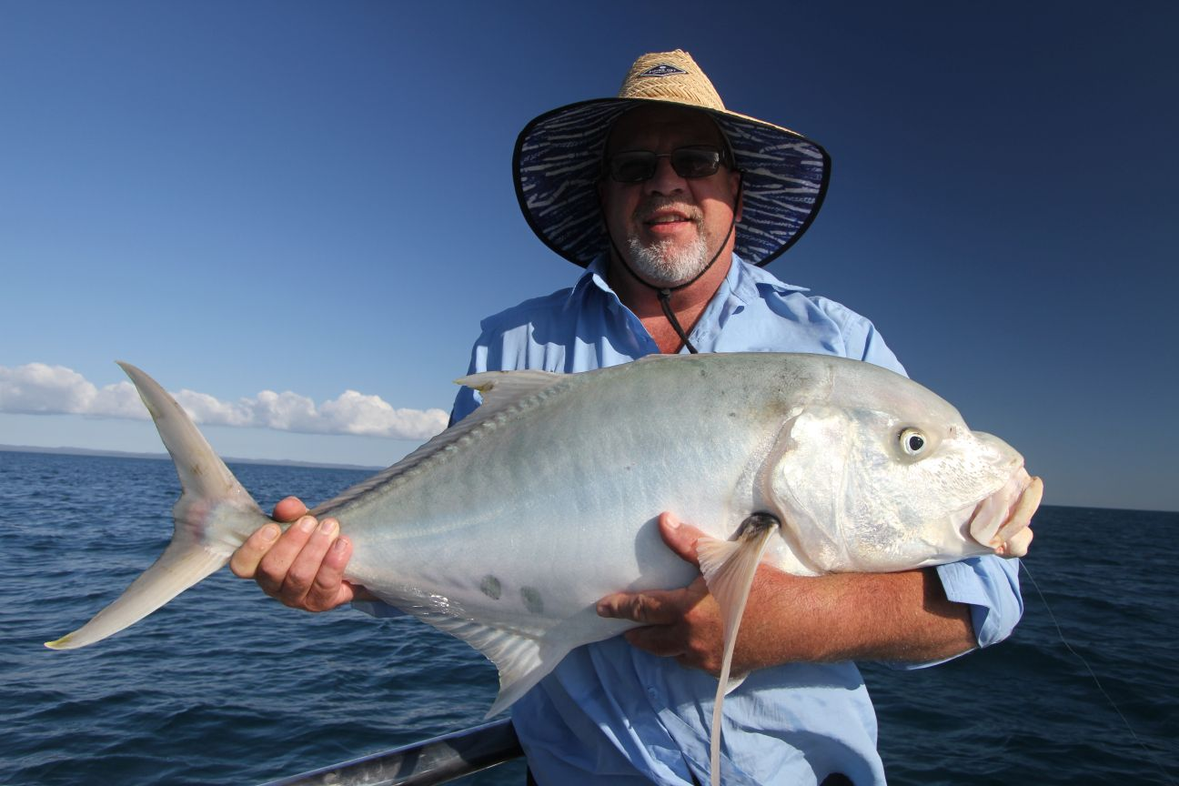 Bryan with his first ever golden trevally