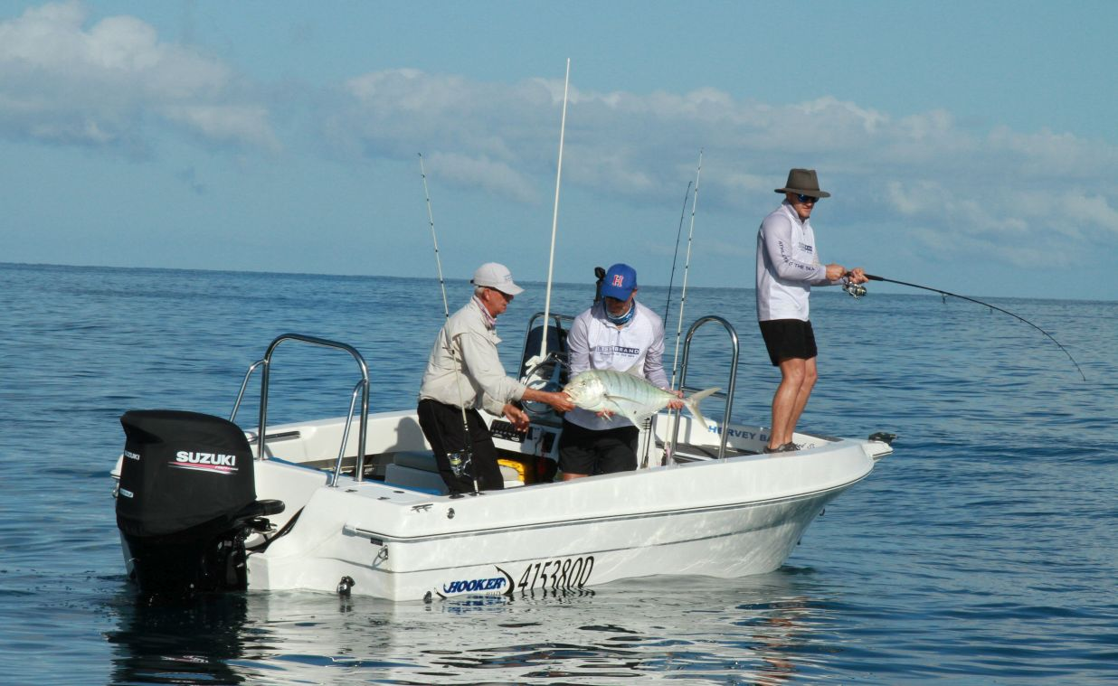 Hot weather, glass out, and fish on - Hervey Bay Fishing Charters