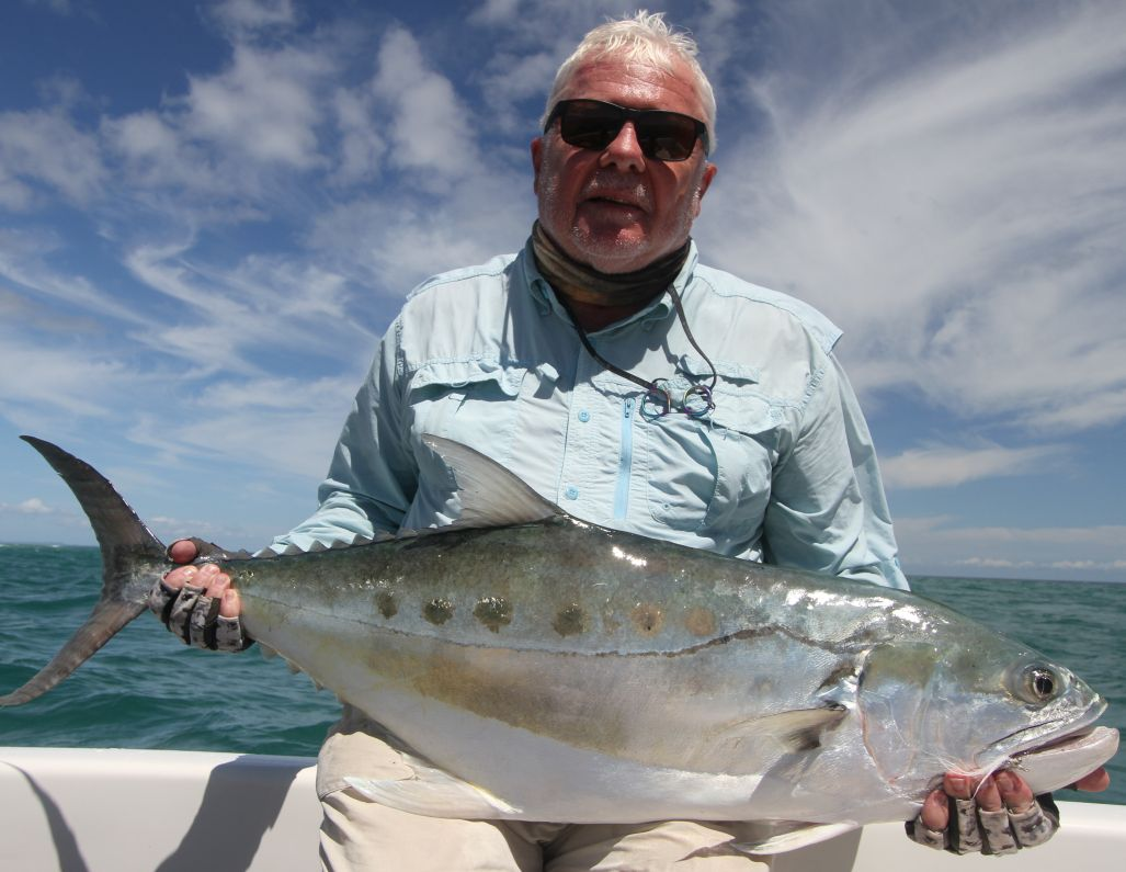 Donkey Queenfish on fly for Colin