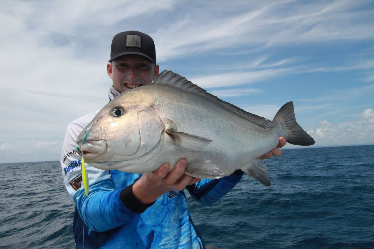 Jigging the reefs producing a few critters like this painted sweetlip