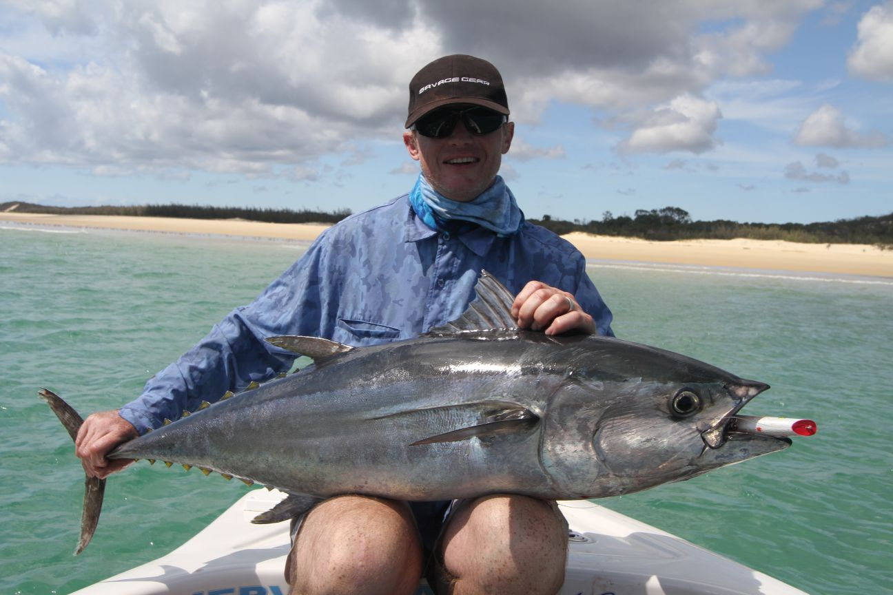 Trophy size longtail tuna