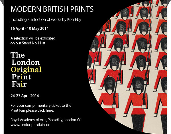 MODERN BRITISH PRINTS - Including a selection of works by Kerr Eby - 16 April - 10 May 2014. A selection will be exhibited on our Stand No 11 at The London Original Print Fair, 24-27 April 2014. For complimentary tickets please email: info@osbornesamuel.com. Royal Academy of Arts, Piccadilly, London, W1 - www.londonprintfair.com