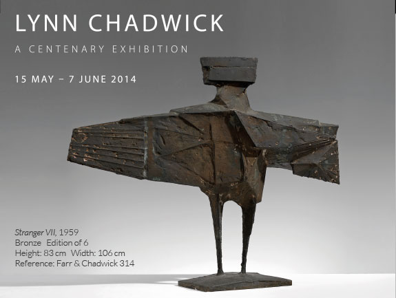 Lynn Chadwick - A Centenary Exhibition, 15 May - 7 June 2014.