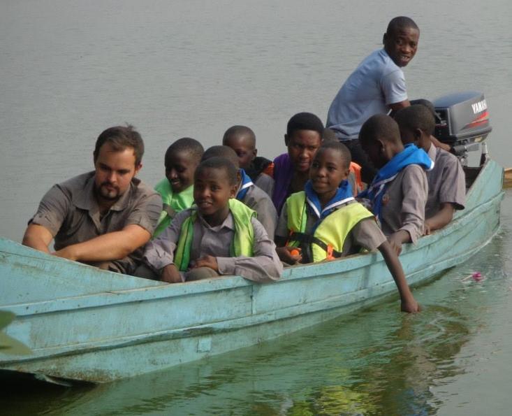 Scouts on Lake Nyabihoko