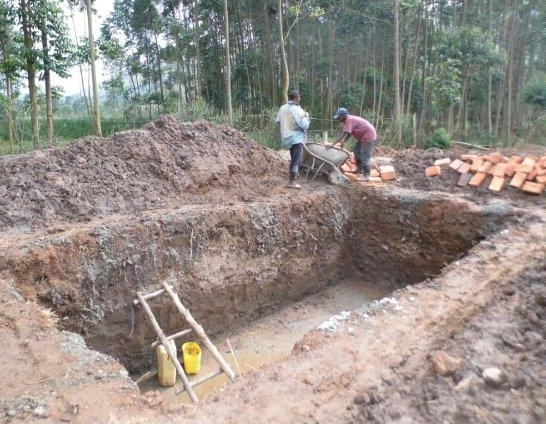 Initial Hole for Septic tank