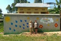 This is our new toilet block for the girls