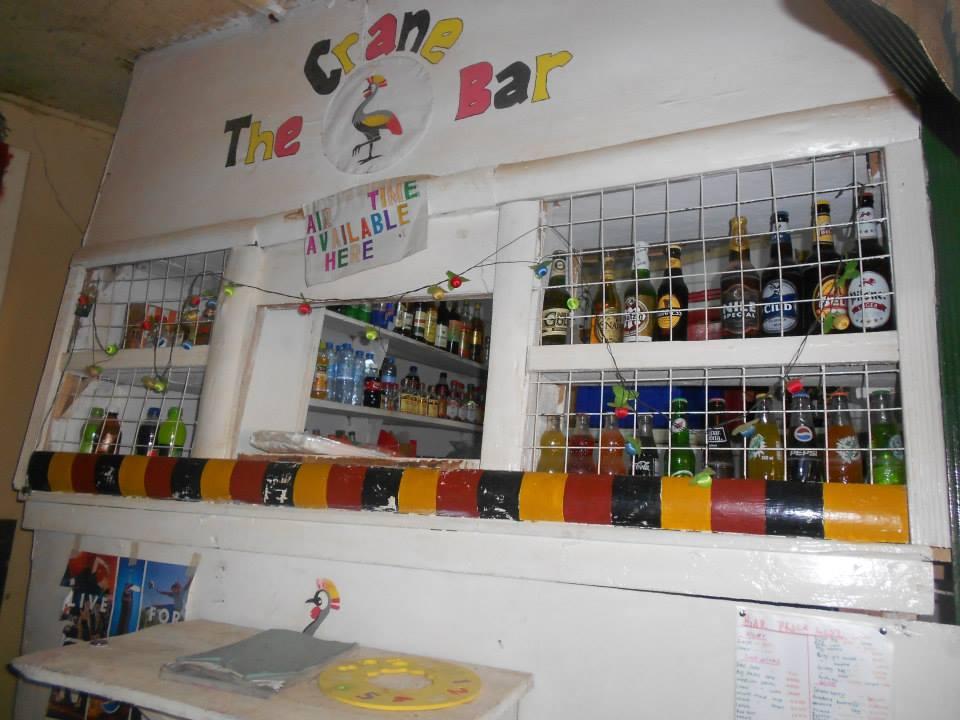 Crane bar at Uganda Lodge