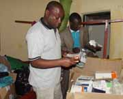 Dr Moses with Medical Equipment
