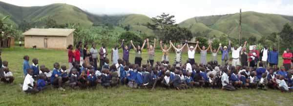 Volunteers with Children