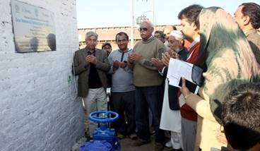 Inauguration ceremony for the 'solar-powered AC pumping system for deep tube wells' held in Talagang, Pakistan