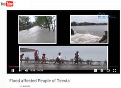 Flood affected People of Teesta