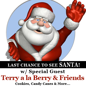 Santa, Terry a la Berry, iPad Giveaway