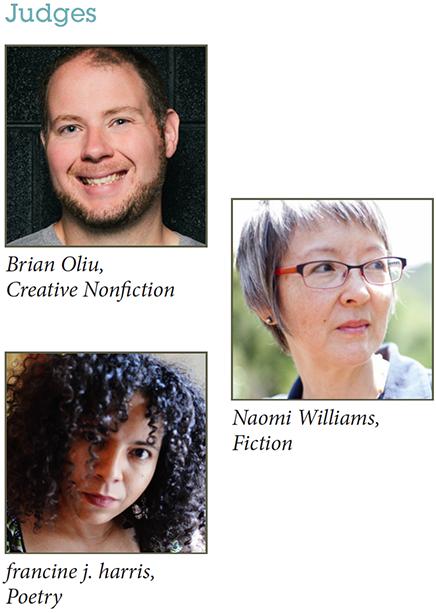 WC&C Judges: Brian Oliu, Naomi Williams, francine j. harris